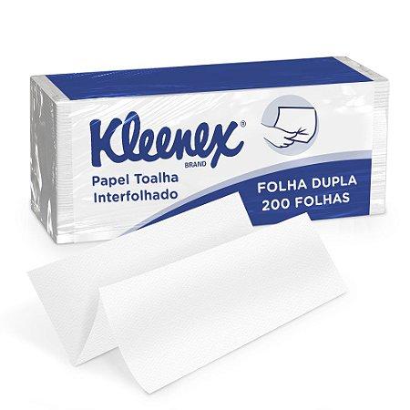 PAPEL TOALHA INTERFOLHADO KLEENEX FOLHA DUPLA C/200 FLS - KIMBERLY-CLARK