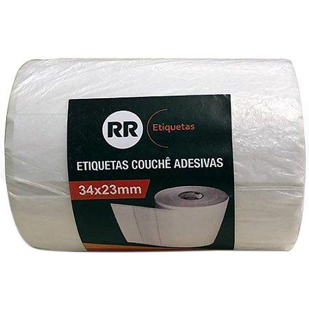 ETIQUETA COUCHÊ ADESIVA 34X23MM C/4320 UNIDADES - RR ETIQUETAS