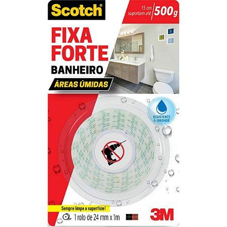 FITA DUPLA FACE SCOTCH FIXA FORTE BANHEIRO 24MMX1M - 3M