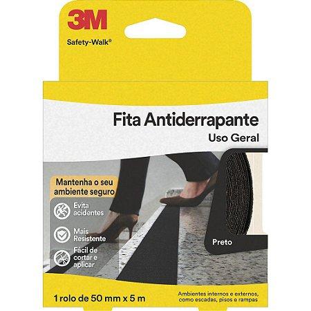 FITA ANTIDERRAPANTE SAFETY-WALK 50MMX5M PRETA - 3M