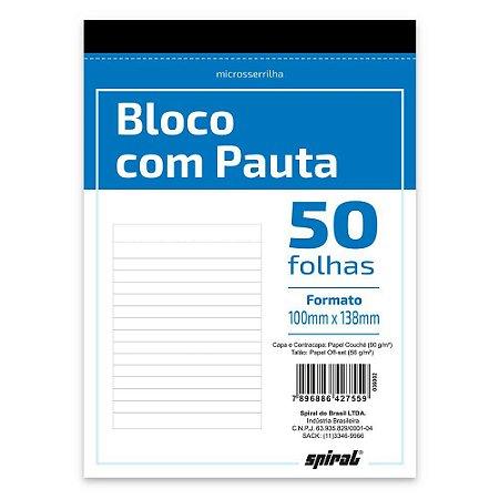 BLOCO COM PAUTA 100MMX138MM 50 FLS - SPIRAL