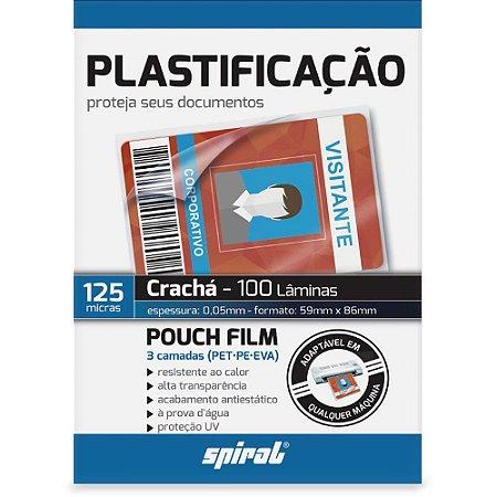 FILME PARA PLASTIFICAÇÃO CRACHÁ 59X86X0,05 C/100 UNIDADES - SPIRAL