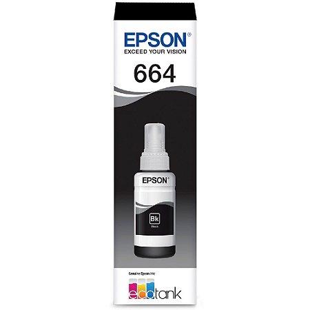 GARRAFA DE TINTA EPSON T664120-AL PRETO - 70ML