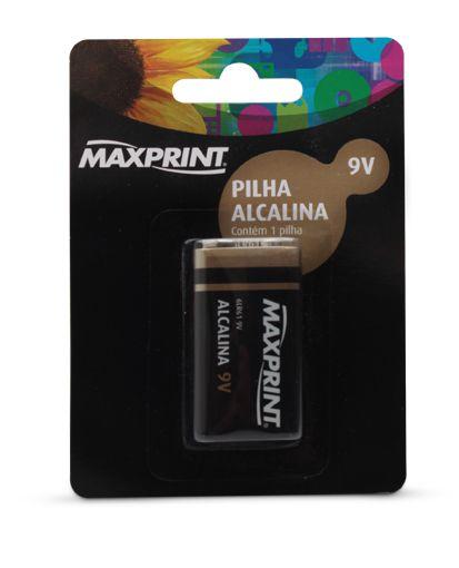 BATERIA ALCALINA 9V - MAXPRINT