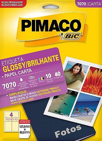 ETIQUETA CARTA GLOSSY BRILHANTE 7070 10 FOLHAS - PIMACO