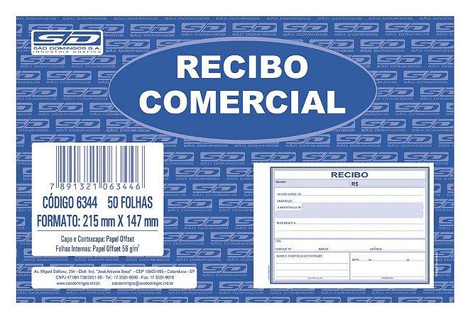 RECIBO COMERCIAL 50 FLS - SÃO DOMINGOS