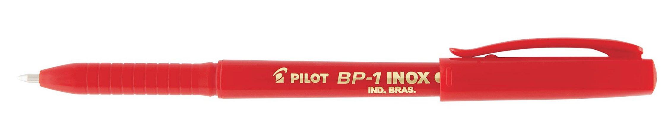 CANETA ESFEROGRÁFICA BP-1 INOX 1.0MM VERMELHA - PILOT