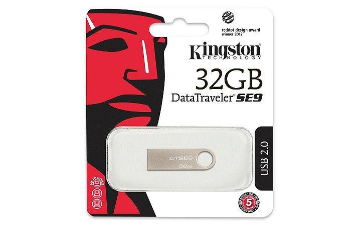 PEN DRIVE DTSE9H/32GB CINZA - KINGSTON