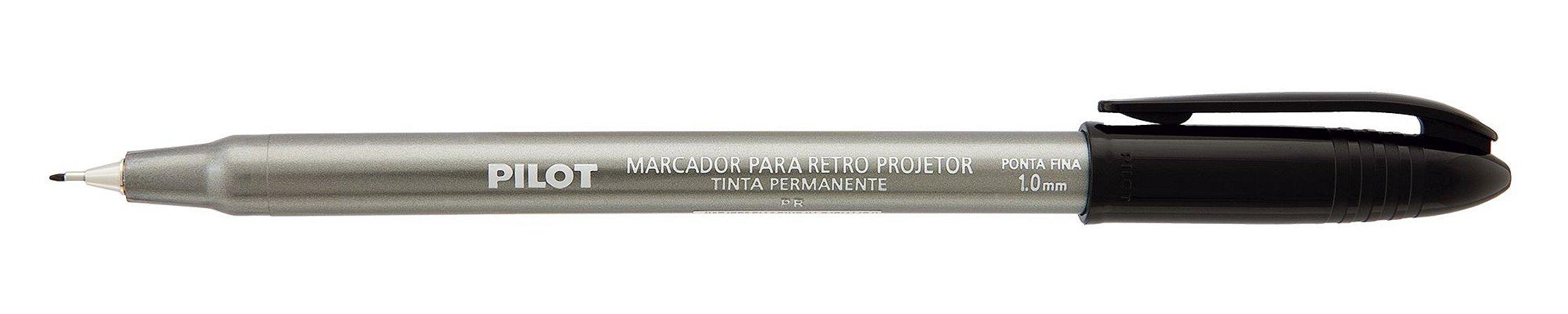 MARCADOR PARA RETRO PROJETOR 1.0MM PRETO - PILOT