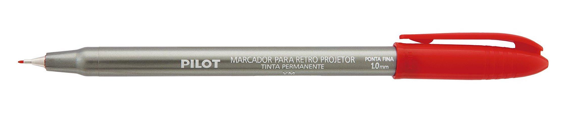 MARCADOR PARA RETRO PROJETOR 1.0MM VERMELHO - PILOT
