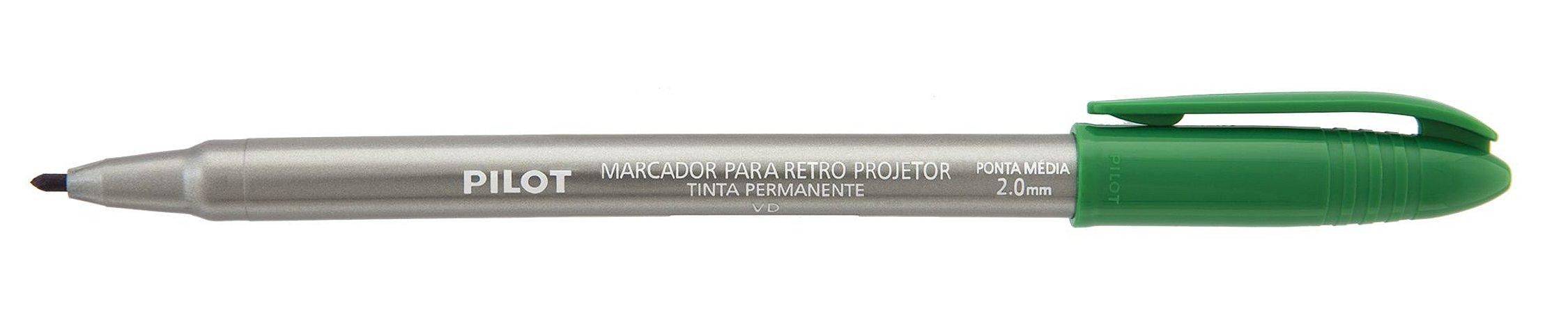 MARCADOR PARA RETRO PROJETOR 2.0MM VERDE - PILOT