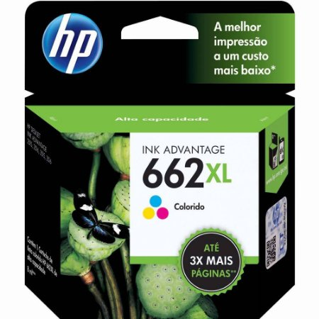 CARTUCHO HP 662XL CZ106AB COLORIDO - 8ML