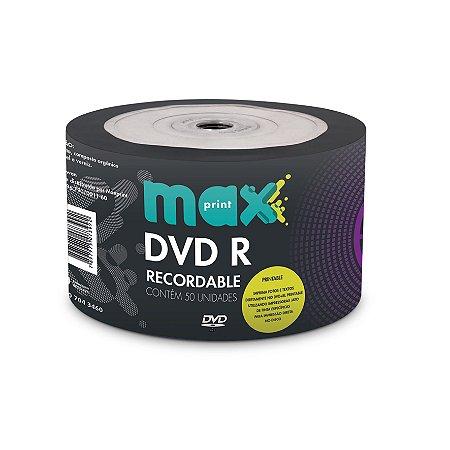 DVD-R PRINTABLE GRAVÁVEL 4.7GB BULK C/50 UNIDADES - MAXPRINT