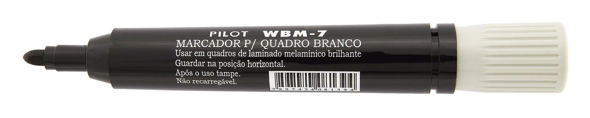 MARCADOR PARA QUADRO BRANCO WBM-7 PRETO - PILOT