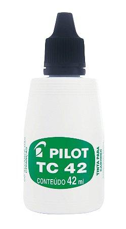 TINTA PARA CARIMBO TC 42ML PRETA - PILOT
