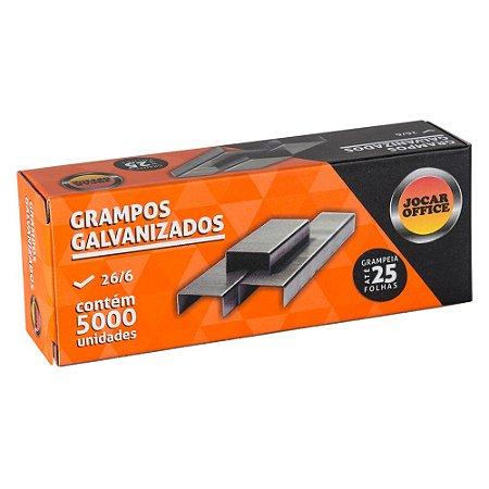 GRAMPO GALVANIZADO 26/6 C/5000 UNIDADES - JOCAR OFFICE