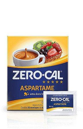 ADOÇANTE EM PÓ ASPARTAME C/50 ENVELOPES - ZERO-CAL