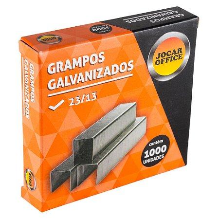 GRAMPO GALVANIZADO 23/13 C/1000 UNIDADES - JOCAR OFFICE