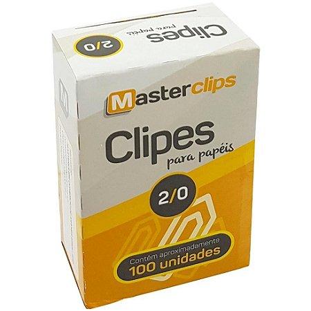 CLIPES 2/0 GALVANIZADO C/100 - MASTERCLIPS