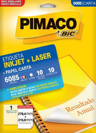 ETIQUETA CARTA 6085 10 FOLHAS - PIMACO