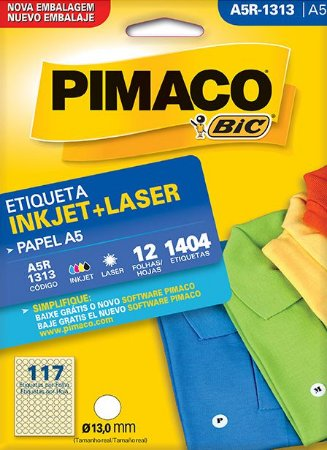 ETIQUETA A5R-1313 12 FOLHAS - PIMACO