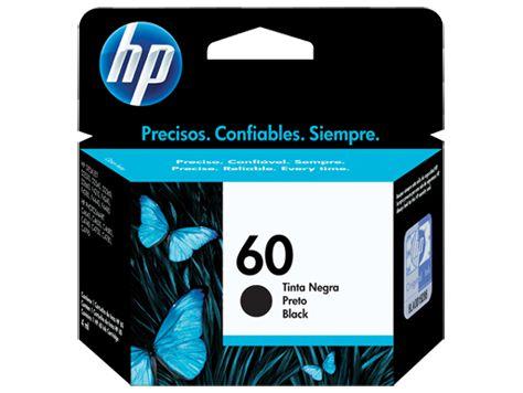 CARTUCHO HP 60 CC640WB PRETO - 4,5ML