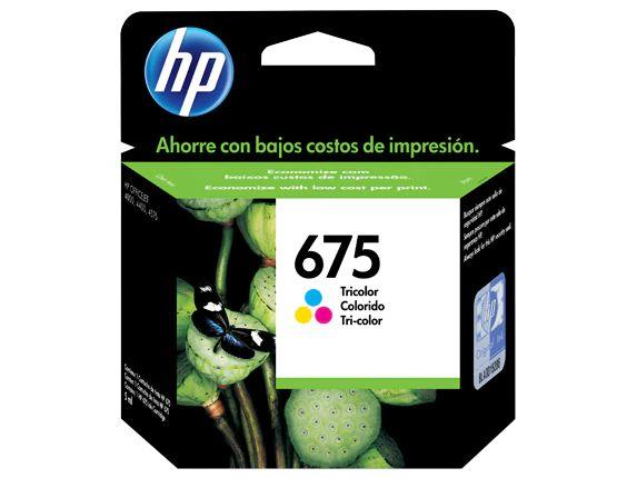 CARTUCHO HP 675 CN691AL COLORIDO - 9ML