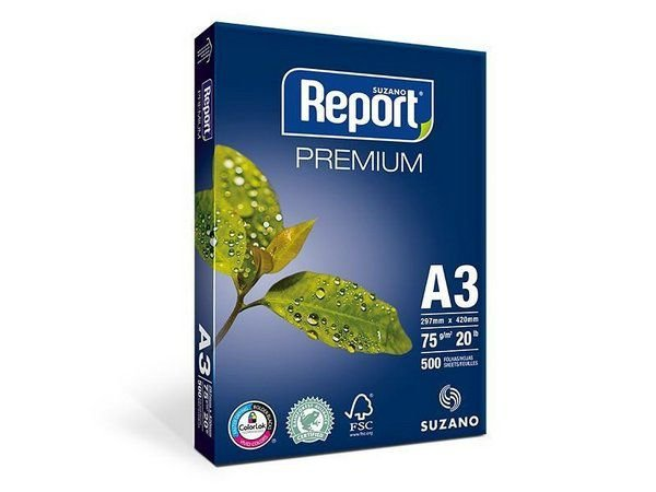 PAPEL REPORT A3 297MMX420MM PREMIUM - 500 FLS