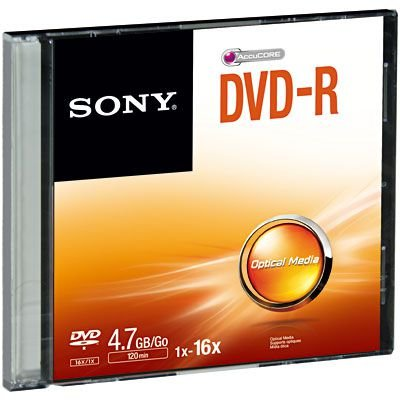 DVD-R GRAVÁVEL 4.7GB SLIM - SONY
