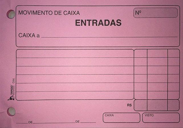 MOVIMENTO DE CAIXA ENTRADAS ROSA C/50 FLS - TAMOIO