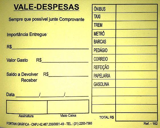 VALE DESPESAS AMARELO C/50 FLS - FORTAN