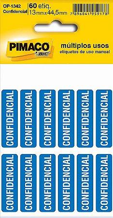 ETIQUETA OP-1342 CONFIDENCIAL 5 FOLHAS - PIMACO