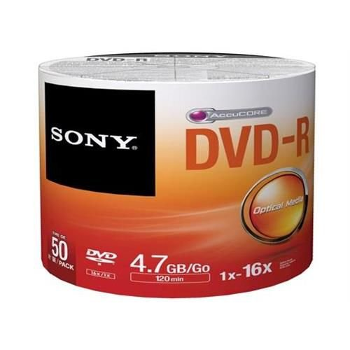 DVD-R GRAVÁVEL 4.7GB PACK C/50 UNIDADES - SONY