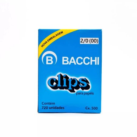 CLIPS Nº 2/0 (00) AÇO GALVANIZADO C/720 UNIDADES - BACCHI