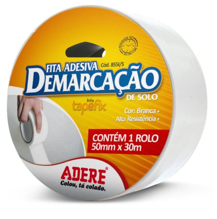 FITA ADESIVA DEMARCAÇÃO DE SOLO 50MMX30M BRANCA - ADERE