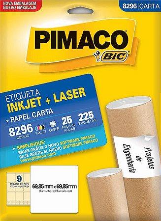 ETIQUETA CARTA 8296 25 FOLHAS - PIMACO