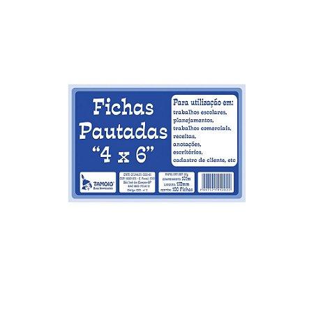 FICHAS PAUTADAS 4X6 C/100 UNIDADES - TAMOIO