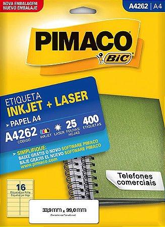 ETIQUETA A4 A4262 25 FOLHAS - PIMACO