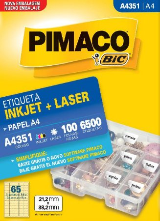 ETIQUETA A4 A4351 100 FOLHAS - PIMACO