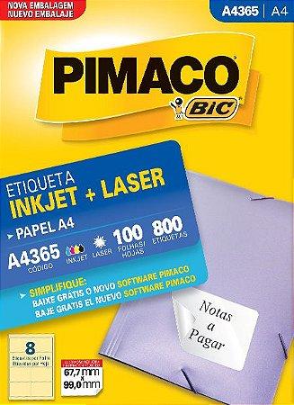 ETIQUETA A4 A4365 100 FOLHAS - PIMACO