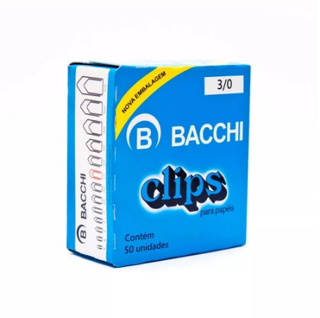 CLIPS  Nº 3/0 AÇO GALVANIZADO C/50 UNIDADES - BACCHI