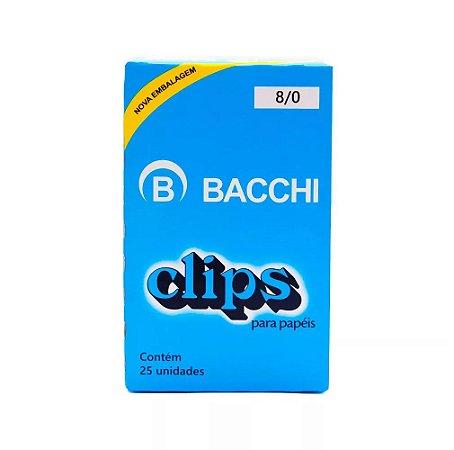 CLIPS Nº 8/0 AÇO GALVANIZADO C/25 UNIDADES - BACCHI