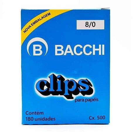 CLIPS Nº 8/0 AÇO GALVANIZADO C/180 UNIDADES - BACCHI
