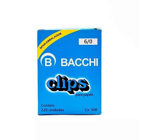 CLIPS Nº 6/0 AÇO GALVANIZADO C/220 UNIDADES - BACCHI