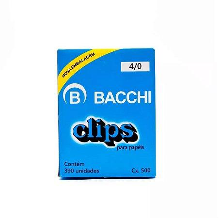 CLIPS Nº 4/0 AÇO GALVANIZADO C/390 UNIDADES - BACCHI