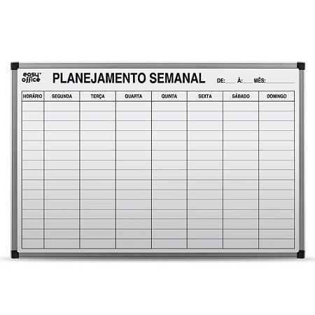 QUADRO BRANCO 90CMX60CM PLANEJAMENTO SEMANAL - EASY OFFICE