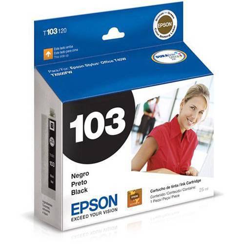 CARTUCHO EPSON T103120BR PRETO - 25ML