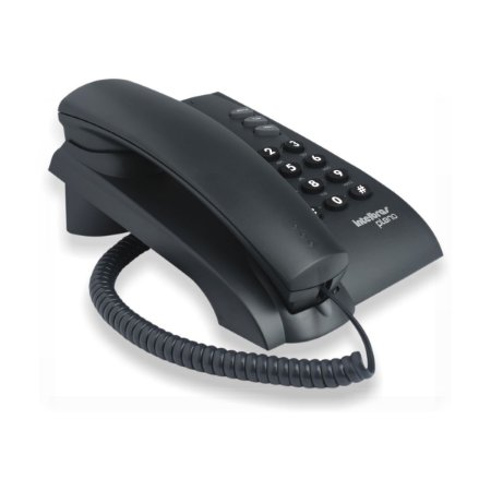 TELEFONE COM CHAVE PLENO PRETO - INTELBRAS