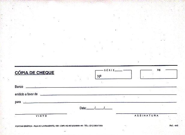 CÓPIA DE CHEQUE BRANCA C/50 FLS - FORTAN