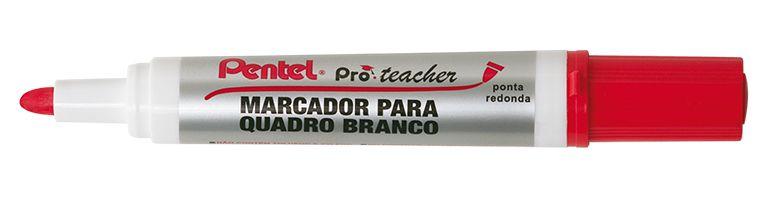 MARCADOR PARA QUADRO BRANCO MW95 PRÓ TEACHER VERMELHO - PENTEL